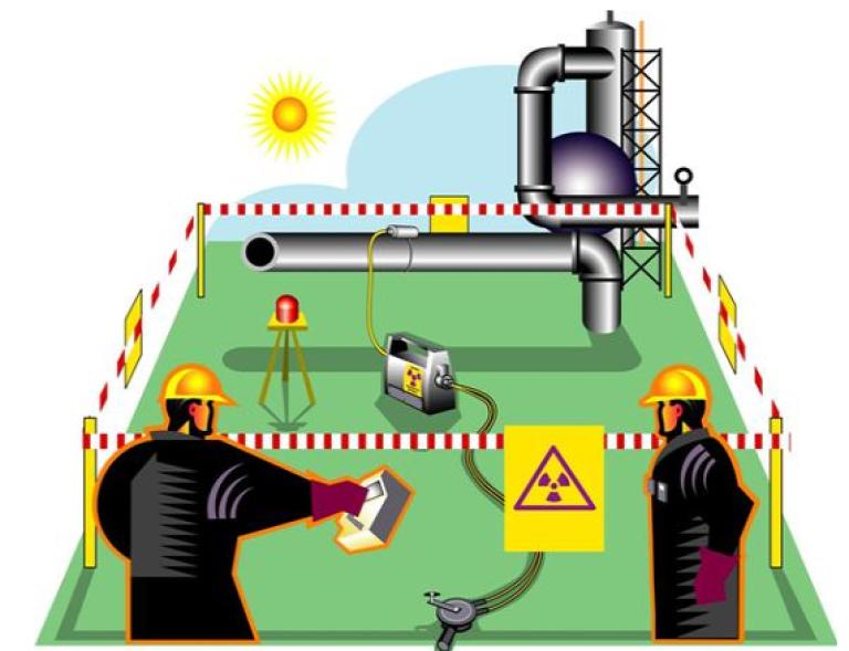 Bildet viser eksempel på industriell radiografi